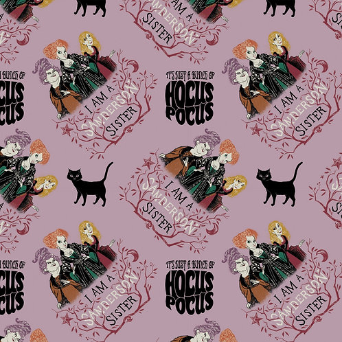 Mauve Disney Hocus Pocus Sanderson Sisters - Camelot Fabrics