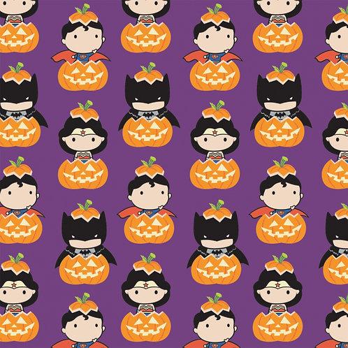 DC Purple Halloween Kawaii - Camelot Fabrics