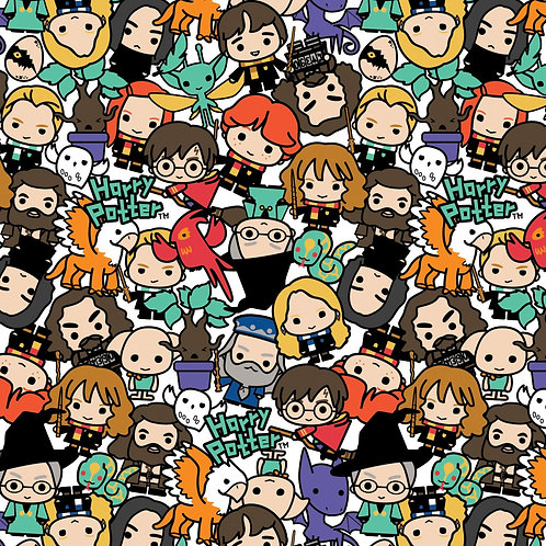 Multi Harry Potter Kawaii Stack Toss - Camelot Fabrics