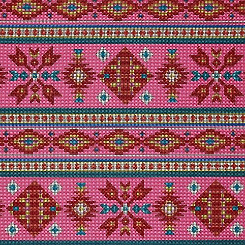 Pink Beaded Stripe - Elizabeth Studio