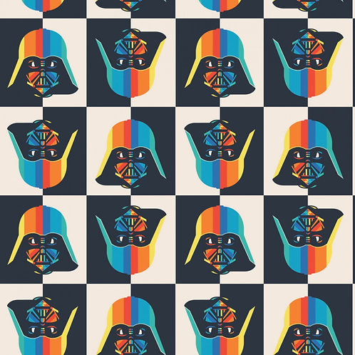 Star Wars Rainbow Darth Vader - Camelot Fabrics