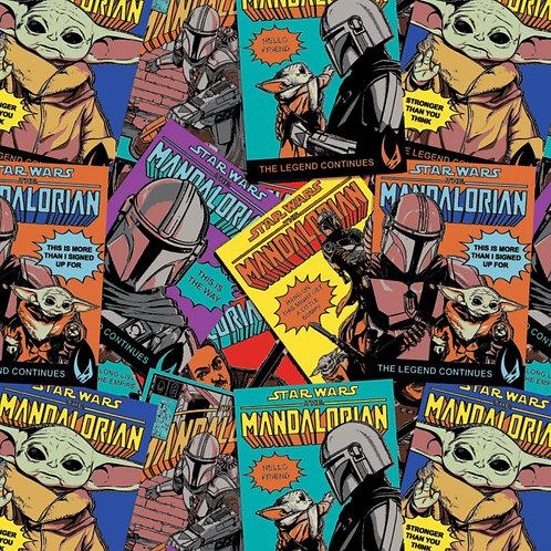 Multi Star Wars Mandalorian Comic Posters - Camelot Fabrics