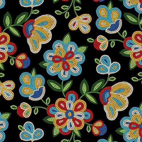 Black Beaded Floral - Elizabeth Studio