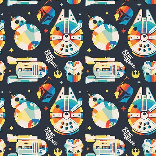 Star Wars Retro Throwback - Camelot Fabrics