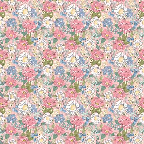 Pink Country Roads Floral - Poppie Cotton Collection