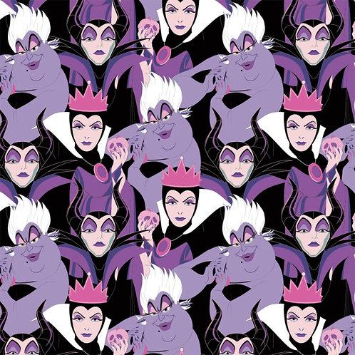 Purple Disney Diabolical Villains - Camelot Fabrics