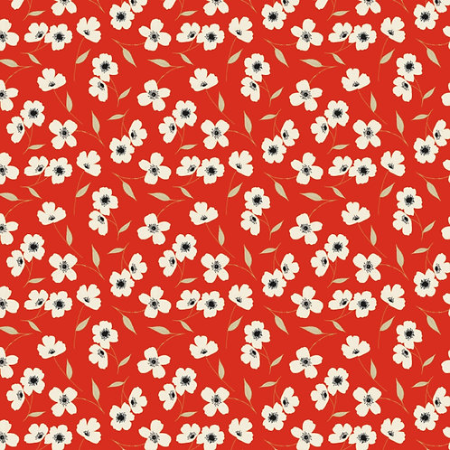 Red Library Floral - Camelot Fabrics
