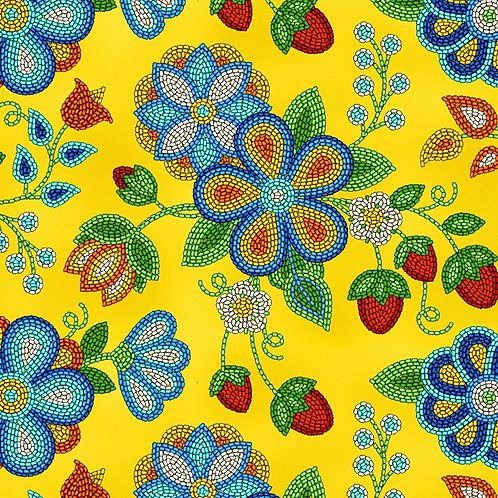 Gold Beaded Strawberries - Elizabeth Studios