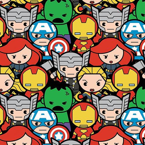Multi Marvel Kawaii Avengers Assemble - Camelot Fabrics