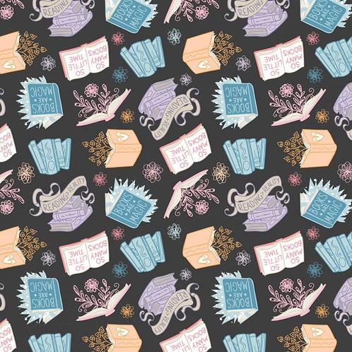 Charcoal Books are Magic - Camelot Fabrics