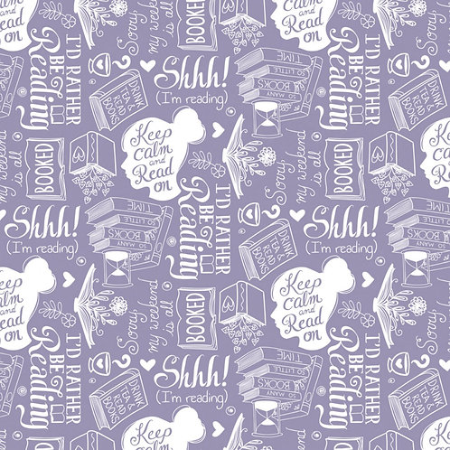 Purple Rather Be Reading - Camelot Fabrics