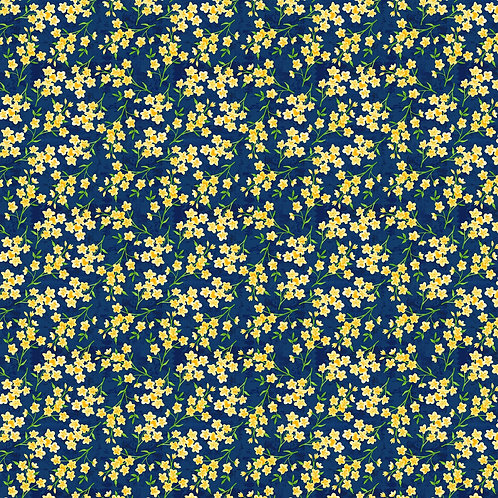 Blue/Yellow Tiny Floral by Jane Maday Collection