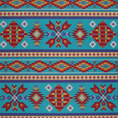 Turquoise Beaded Stripe - Elizabeth Studio
