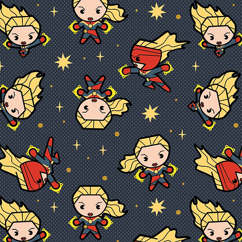 Slate Grey Marvel Captain Marvel - Camelot Fabrics