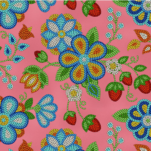 Coral Beaded Strawberries - Elizabeth Studios