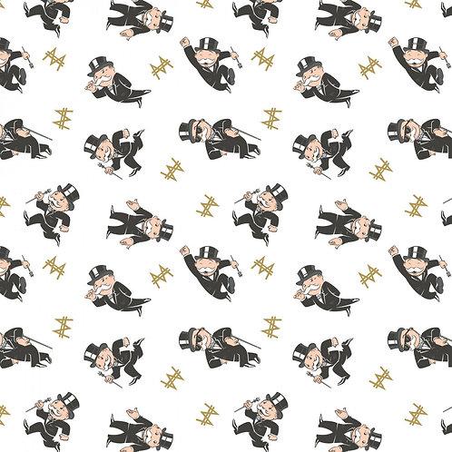 Mr. Monopoly Toss Hasbro (White) - Camelot Fabrics