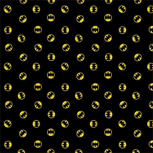 Black DC Batman Logo - Camelot Fabrics