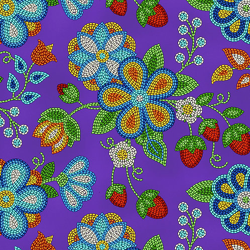 Purple Beaded Strawberry - Elizabeth Studios