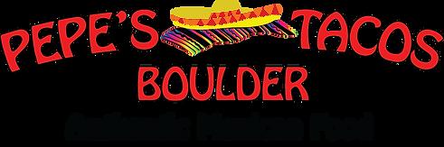 pepe's tacos boulder logo