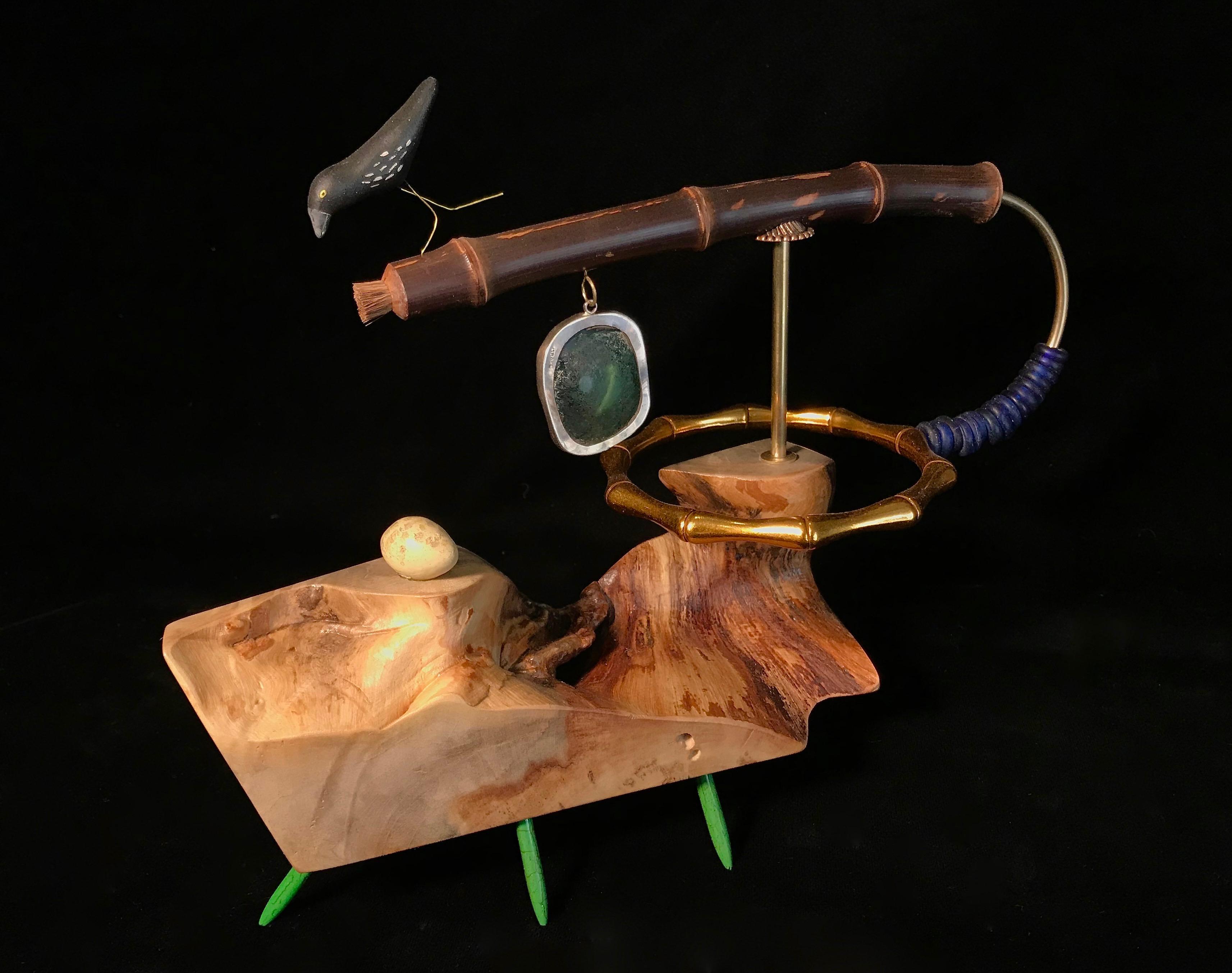 Roman Glass Balancer Whirligig