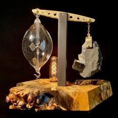 Pyrite Meditation Lamp