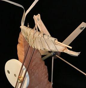 Grasshopper Whirligig Detail