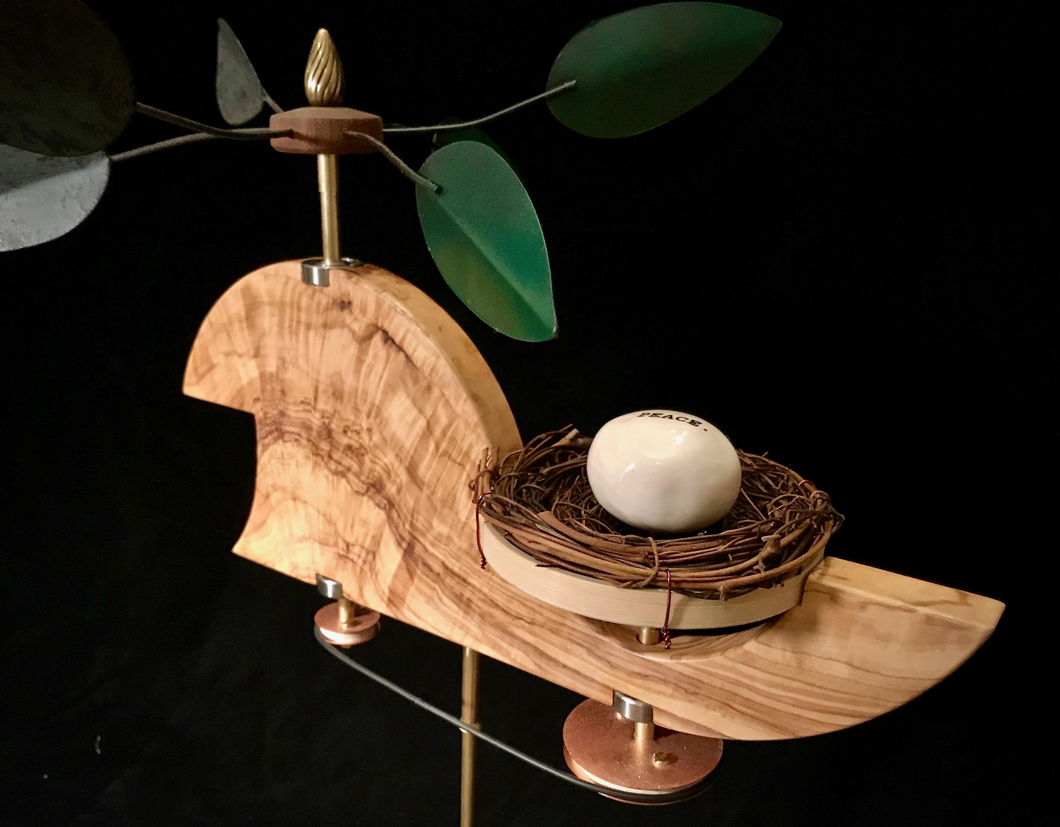 Peace Egg Spinner Whirligig