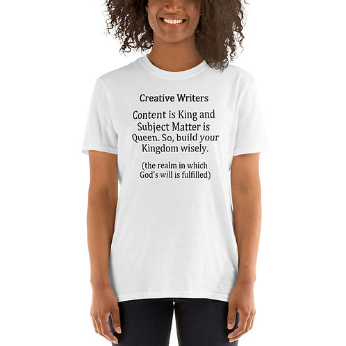 Creative Writers White Unisex T-Shirt