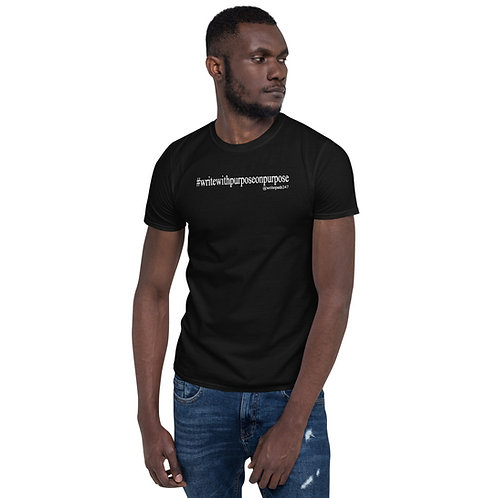 Write With Purpose - Black Unisex T-Shirt