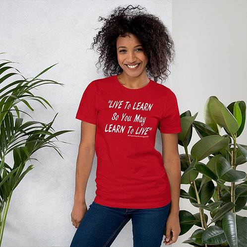 Live to Learn Red T-shirt