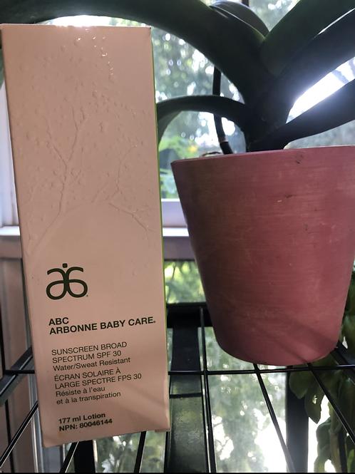 ABC Arbonne Baby Care Sunscreen Broad Spectrum SPF 30