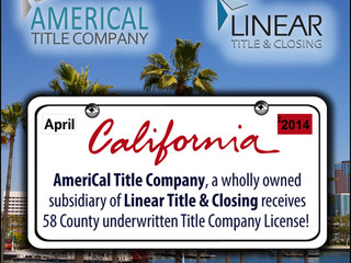 AmeriCal Title Company, a wholly owned subsidiary of Linear Title & Closing, expands footprint in Ca
