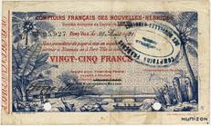 Billet de nécessité (25 francs) émis par les CFNH en 1921