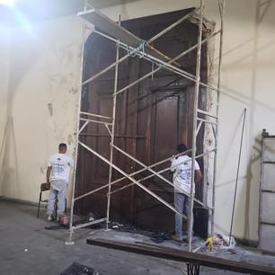 Restauro da Porta do Teatro