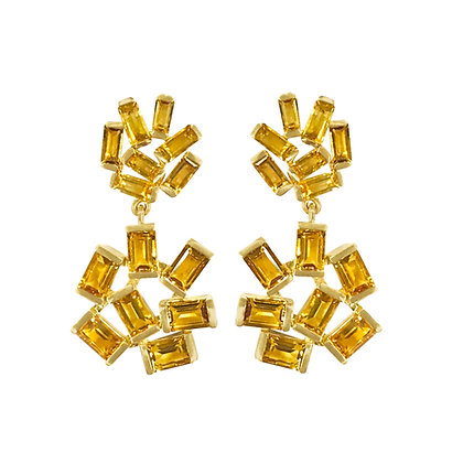 Citrine Double Jubilation Earrings