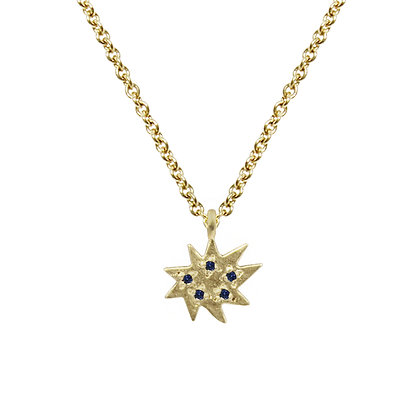 Mini Stella Single Necklace with Blue Sapphire