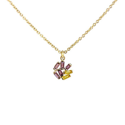 Small Jubilation Necklace - Yellow Sapphire and Amethyst