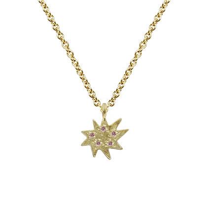 Mini Stella Single Necklace with Pink Sapphire