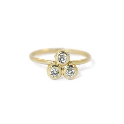 Diamond Three Dot Ring