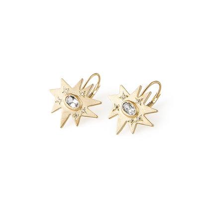 Gold Stellina Earrings: Diamond