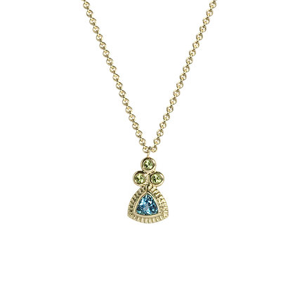 Signature Necklace with Peridot and Blue Topaz