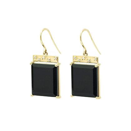 Onyx Tile Earrings