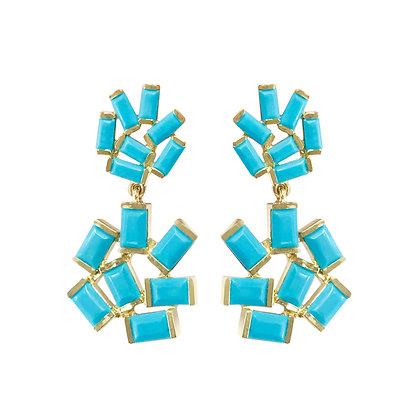 Turquoise Double Jubilation Earrings