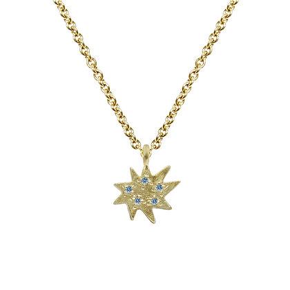 Mini Stella Single Necklace with Blue Topaz