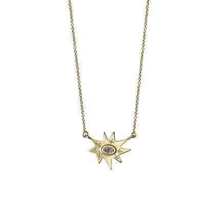 Gold Stellina Necklace: Diamond
