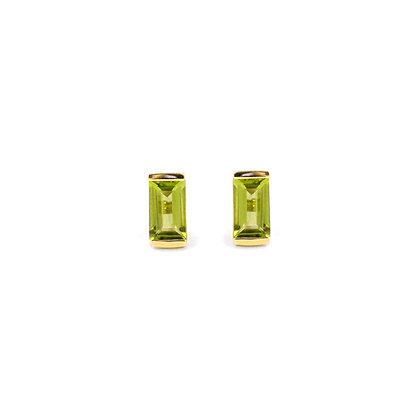 Peridot Bonbon Stud Earrings