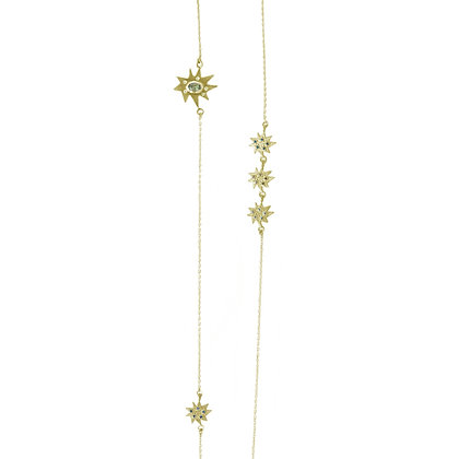 Stella Mixed Element Station Necklace