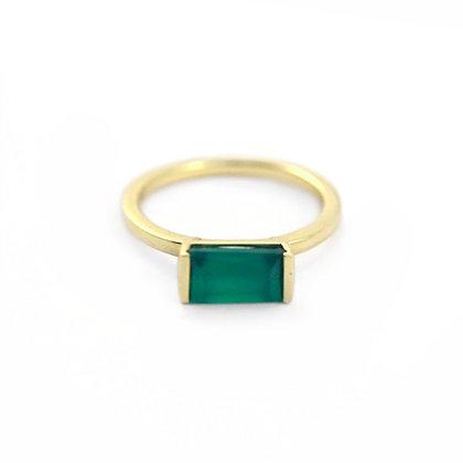 Bonbon Ring: Green Onyx