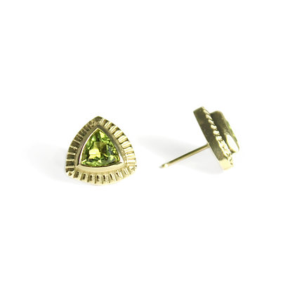 Trillion Earrings with Peridot