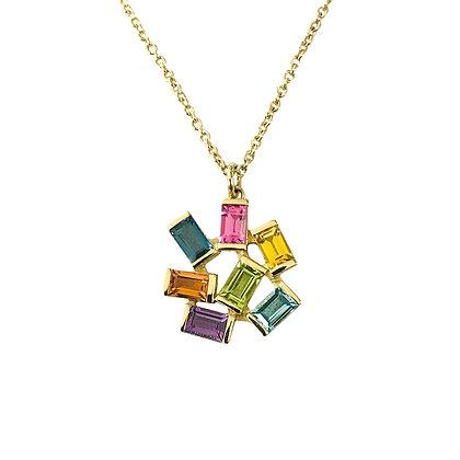 Large Jubilation Pendant - Semi Precious Gemstones